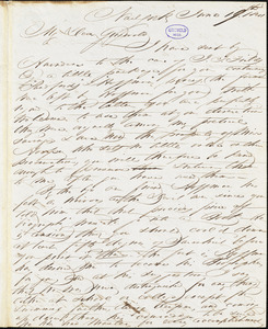 John Keese, New York, autograph letter signed to R. W. Griswold, 19 June 1841