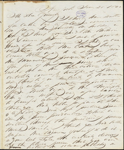 John Keese, New York, autograph letter signed to R. W. Griswold, 20 January 1842