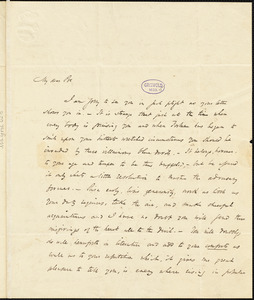 John Pendleton Kennedy, Baltimore, MD., autograph letter signed to Edgar Allan Poe, 19 September 1835
