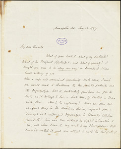 John Pendleton Kennedy, Annapolis, MD., autograph letter signed to R. W. Griswold, 13 January 1847