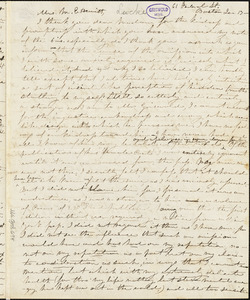 Jane Ermina (Stockweather) Locke, 62 Federal St. Boston, autograph letter signed to Mary Elizabeth (Moore) Hewitt Stebbins, 13 January [1851]