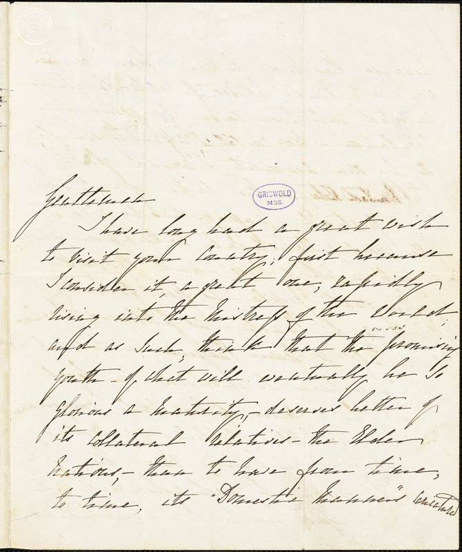 Rosina Doyle Lytton, London, autograph letter signed to [Stringer and Townsend], 6 February 1850