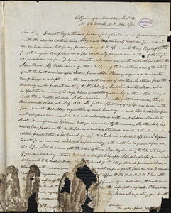 William Penn Palmer autograph letter signed to Rufus W. Griswold, 2 December 1844
