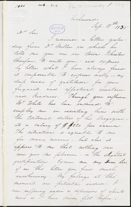 Edgar Allan Poe, Richmond, VA., letter signed to John P. Kennedy, 11 September 1835
