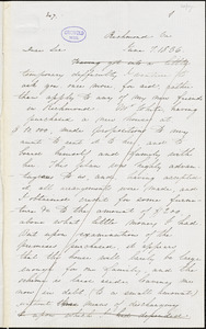 Edgar Allan Poe, Richmond, VA., letter signed to John P. Kennedy, 7 June 1836