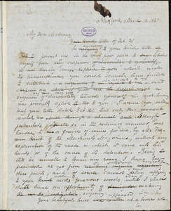 Edgar Allan Poe, New York, autograph letter to Jane Ermina Locke, 10 March 1847