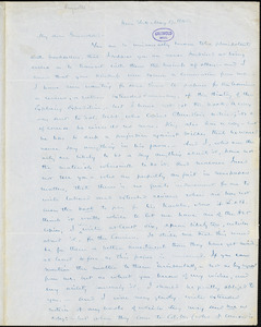 Henry Jarvis Raymond, New York, autograph letter signed to R. W. Griswold, 17 May 1845