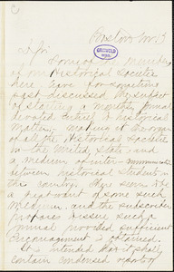 C.B. Richardson, 119 Washington St. (Boston, MA), autograph letter signed, 13 November?