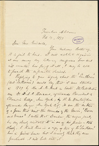 Warfield Creath Richardson, Tuscaloosa, AL., autograph letter signed to W. M. Griswold, 17 February 1897