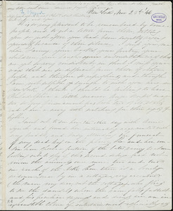 Mary L. (Mumford) Seward, New York, autograph letter signed to Frances Sargent (Locke) Osgood, 23 November 1846