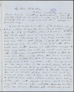 Elizabeth Oakes (Prince) Smith autograph letter signed to Miss [Caroline?] May