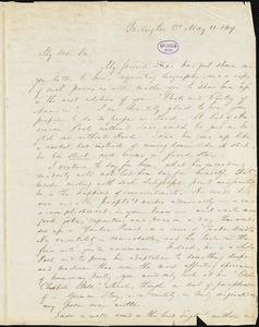 E. A. Stansbury, Burlington, VT., autograph letter signed to R. W. Griswold, 11 May 1849