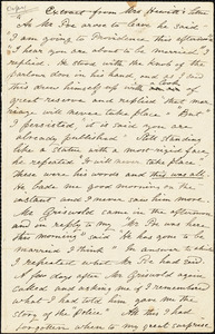 Mary Elizabeth (Moore) Hewitt Stebbins, New York, autograph letter signed to R. W. Griswold, 2 October 1850