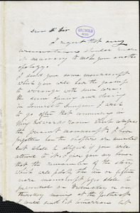 Ann Sophia (Winterbotham) Stephens, New York, autograph letter signed to George R. Graham, 24 April [184-?]