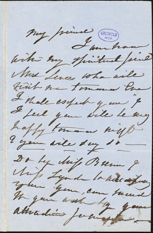 R. W. Thayer autograph letter signed, 15 November