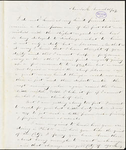 Edward J. Thomas, New York, autograph letter signed to Frances Sargent (Locke) Osgood, 15 March 1847