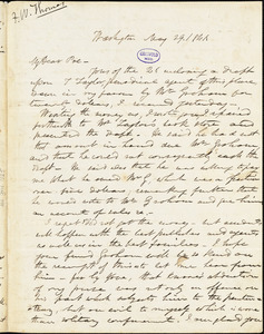 Frederick William Thomas, Washington, DC., autograph letter signed to Edgar Allan Poe, 29 May 1841