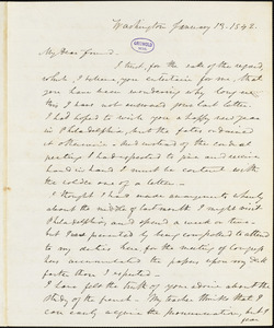 Frederick William Thomas, Washington, DC., autograph letter signed to Edgar Allan Poe, 13 January 1842