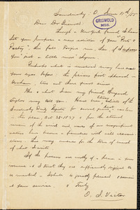 Orville James Victor, Sandusky, OH., autograph letter signed to R. W. Griswold, 11 June 1855