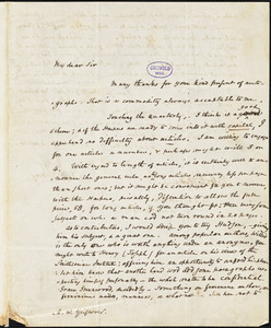 Horace Binney Wallace, Philadelphia, PA., autograph letter signed to R. W. Griswold, 11 August 1845 (1841?)