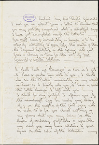 Anna Maria Katherine Ware, London, (Eng), autograph letter signed to R. W. Griswold, 12 August [1854?]