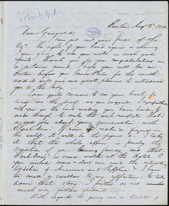 Edwin Percy Whipple, Boston, MA., autograph letter signed to R. W. Griswold, August 1846