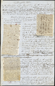 "John Greenleaf Whittier, Amesbury, MA., manuscript article, 2 July [1847?]: ""New Hampshire Politics."""