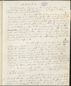 "John Greenleaf Whittier, Amesbury, MA., manuscript article, 29 October [1847?]: ""The Better Land."""