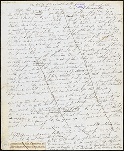 "John Greenleaf Whittier, Amesbury, MA., manuscript article, 1 October: ""The Whigs of Massachusetts."""