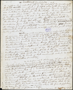 "John Greenleaf Whittier manuscript article: ""The Northern Candidates."""