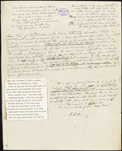 John Greenleaf Whittier manuscript article: [A review of a young abolitionist poet]