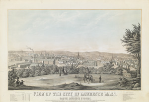 View of the city of Lawrence Mass.