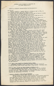 """Sacco-Vanzetti Case Records, 1920-1928. Defense Papers. """"Criminal Past of Carlos E. Goodridge and His Utter Unreliability (Digest of documents demonstrating his delinquencies),"""" n.d. Box 11, Folder 50, Harvard Law School Library, Historical & Special Collections"""