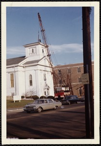 Pleasant Street Congregational Church - new steeple installed