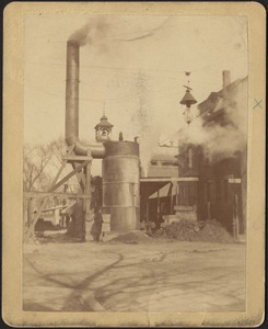 Metropolitan Water Works Miscellaneous, corner of Chestnut Street and unidentified, construction or maintenance, likely Boston Water Works, Boston?, Mass., ca. 1895-1899
