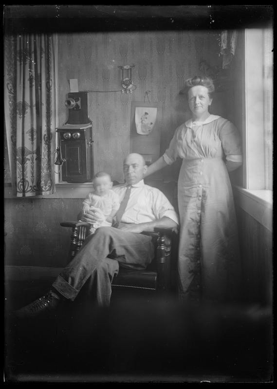 Man, woman, & child. Interior