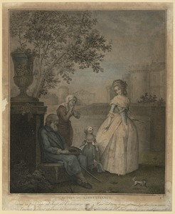Act of Charity, Marie Antoinette and her Daughter Give Alms to the Blind