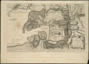 A large and particular plan of Shegnekto Bay, and the circumjacent country, with the forts and settlements of the French 'till dispossess'd by the English in June 1755
