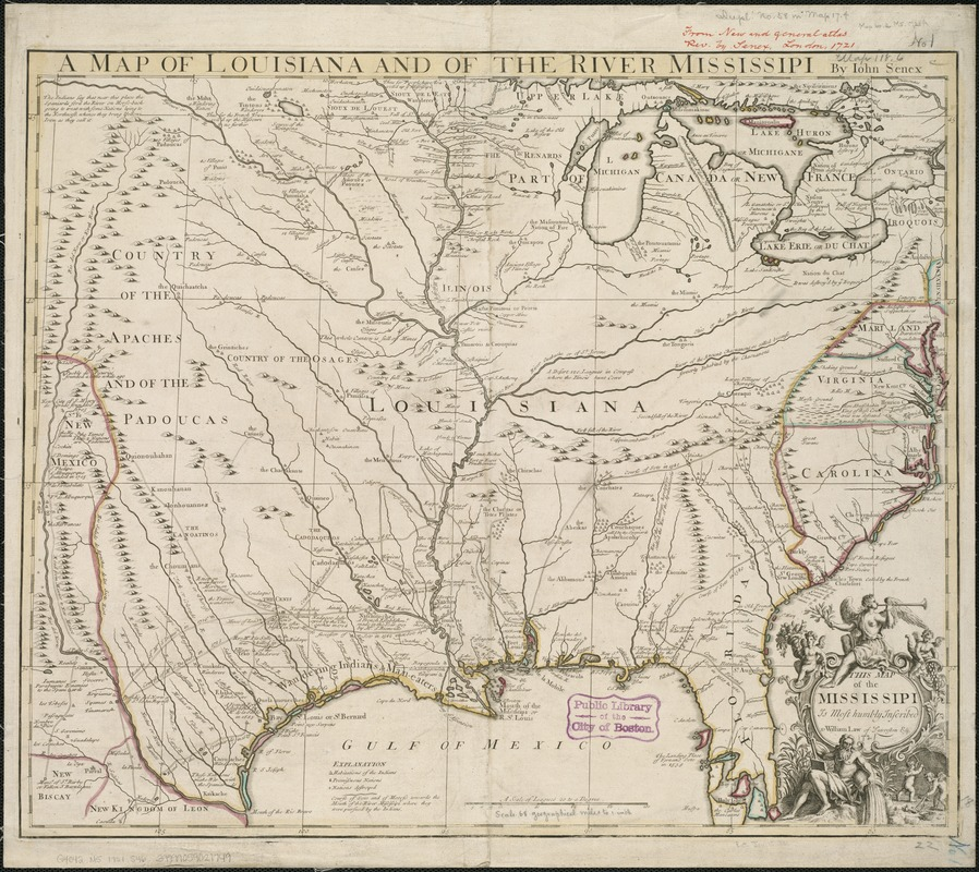 A map of Louisiana and of the River Mississipi