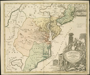 Virginia Marylandia et Carolina in America septentrionali Brittannorum industria excultæ