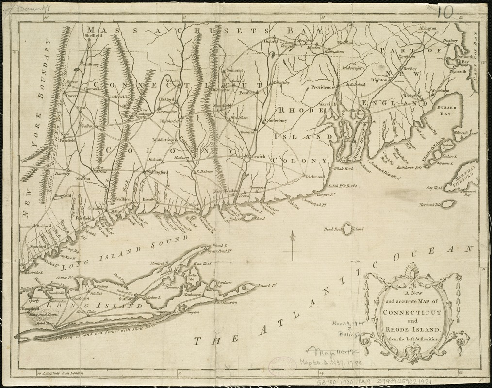 A new and accurate map of Connecticut and Rhode Island, from the best authorities