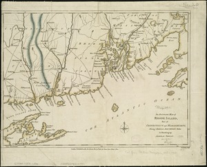 An accurate map of Rhode Island, part of Connecticut and Massachusets, shewing Admiral Arbuthnot's station in blocking up Admiral Ternay