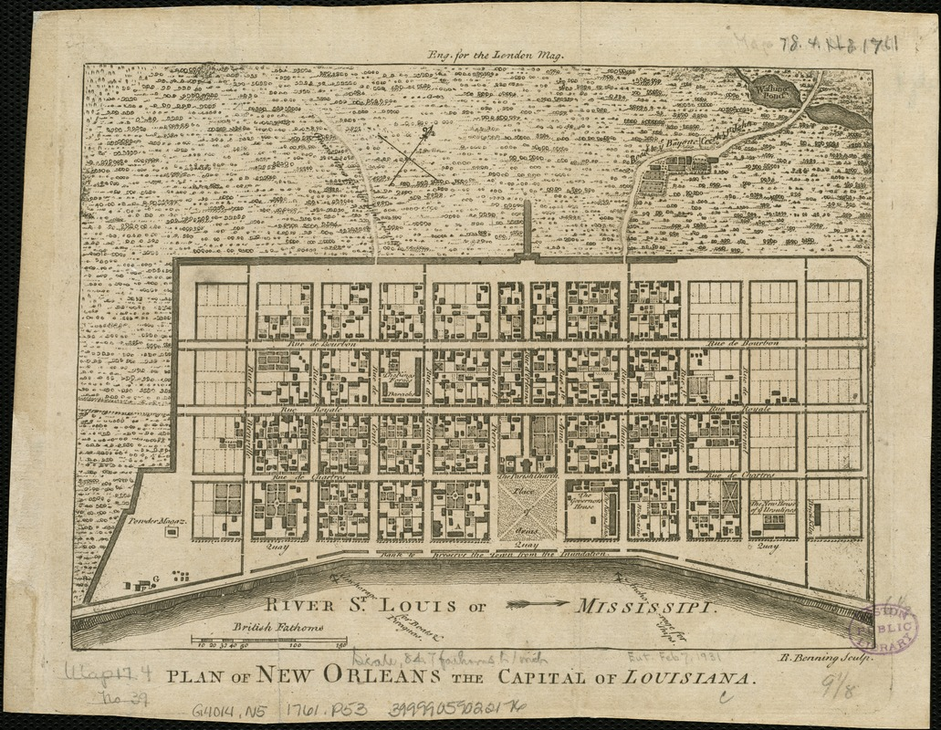 Plan of New Orleans the capital of Louisiana
