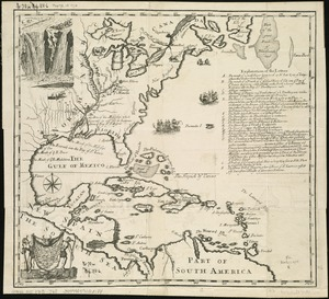 A new map of the country of Louisiana and of ye river Missisipi in North America discou'd by Mons. de la Salle in ye years 1681and 1686 as allso of several other rivers before unknown and falling into ye Bay of St. Lewis