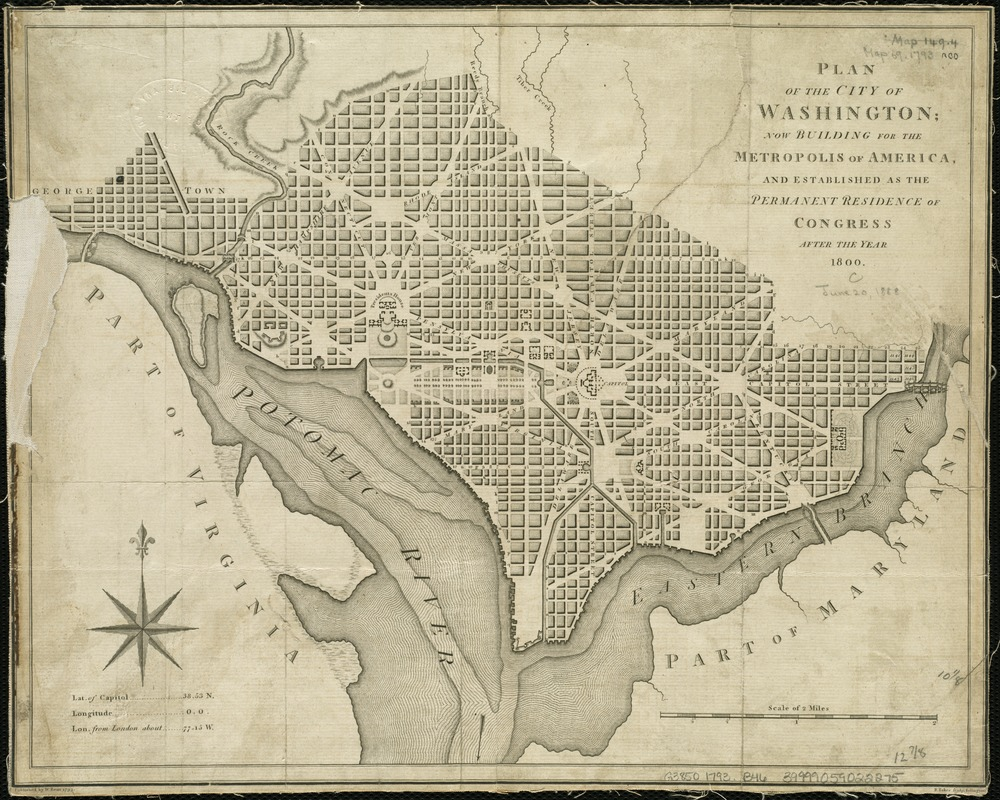 Plan of the city of Washington