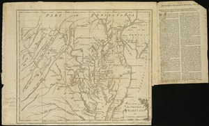 A New map of the province of Maryland in North America