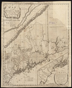 A map of the district of Maine, drawn from the latest surveys and other best authorities