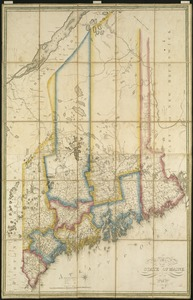 Map of the state of Maine