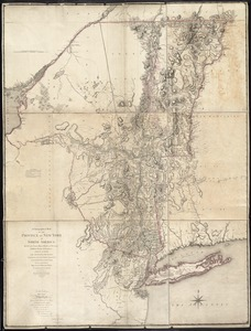 A chorographical map of the Province of New-York in North America, divided into counties, manors, patents and townships