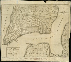 A plan of the city and environs of New York in North America